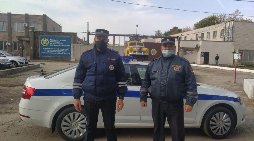Балаковские инспекторы ГИБДД нашли потерявшуюся женщину