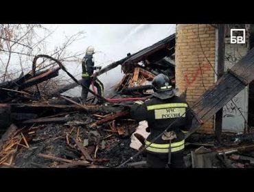 [Видео] Пожарные полностью ликвидировали возгорание на улице Академика Жука
